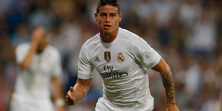 Real Madrid midfielderJames Rodriguez (File   AP)