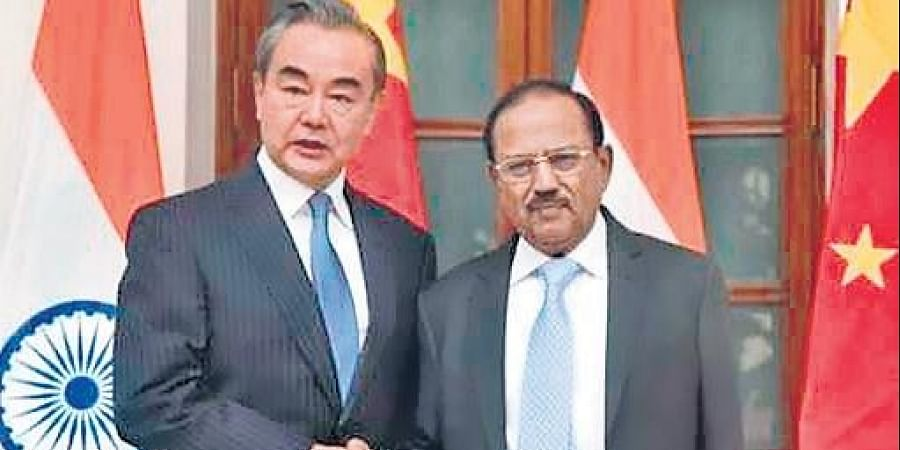 NSA Ajit Doval talked to Chinese foreign minister Wang Yi late on Sunday (File Photo)