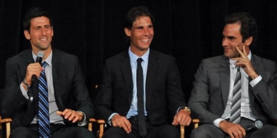 ATP tennis stars Novak Djokovic, Rafael Nadal and Roger Federer