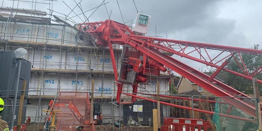 A 20-metre crane collapsed onto a block of flats in the Bow area of east London