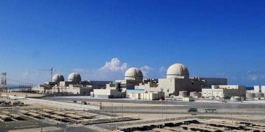 A file photo taken on November 12, 2019 as a handout picture obtained from the media office of the Barakah Nuclear Power Plant on February 13.