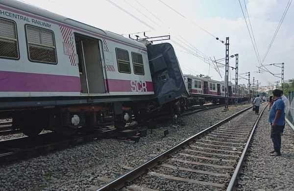 Two coaches of train derail at Vasai Road Yard in Maharashtra