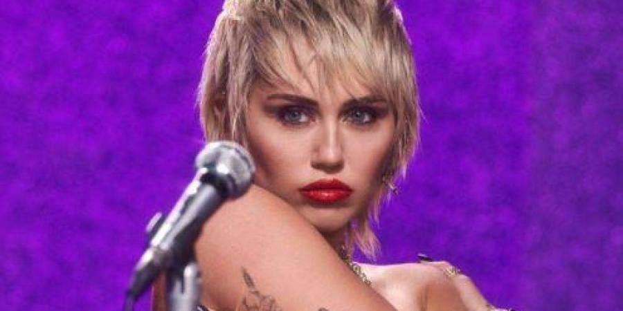 Singer Miley Cyrus in 'Midnight Sky'