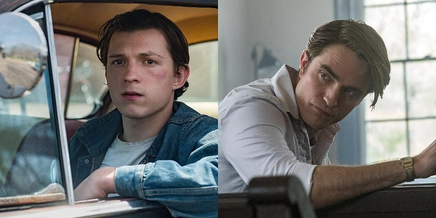 Tom Holland(L) and Robert Pattinson(R) in Netflix's 'The Devil All the Time'.