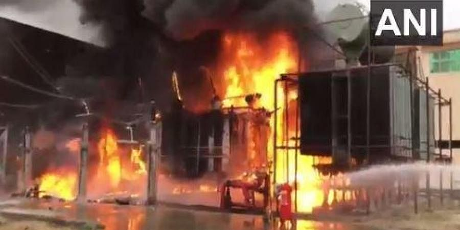 Fire at the Noida Power Company Limited