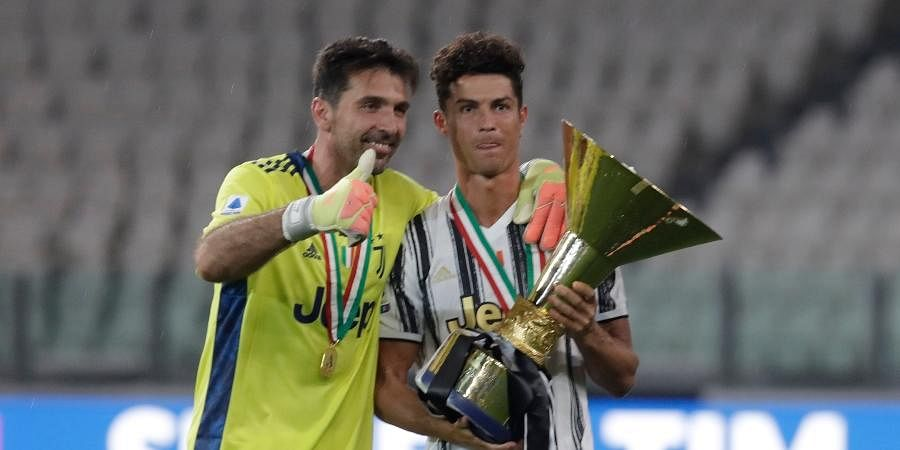 Buffon with Cristiano Ronaldo | AP