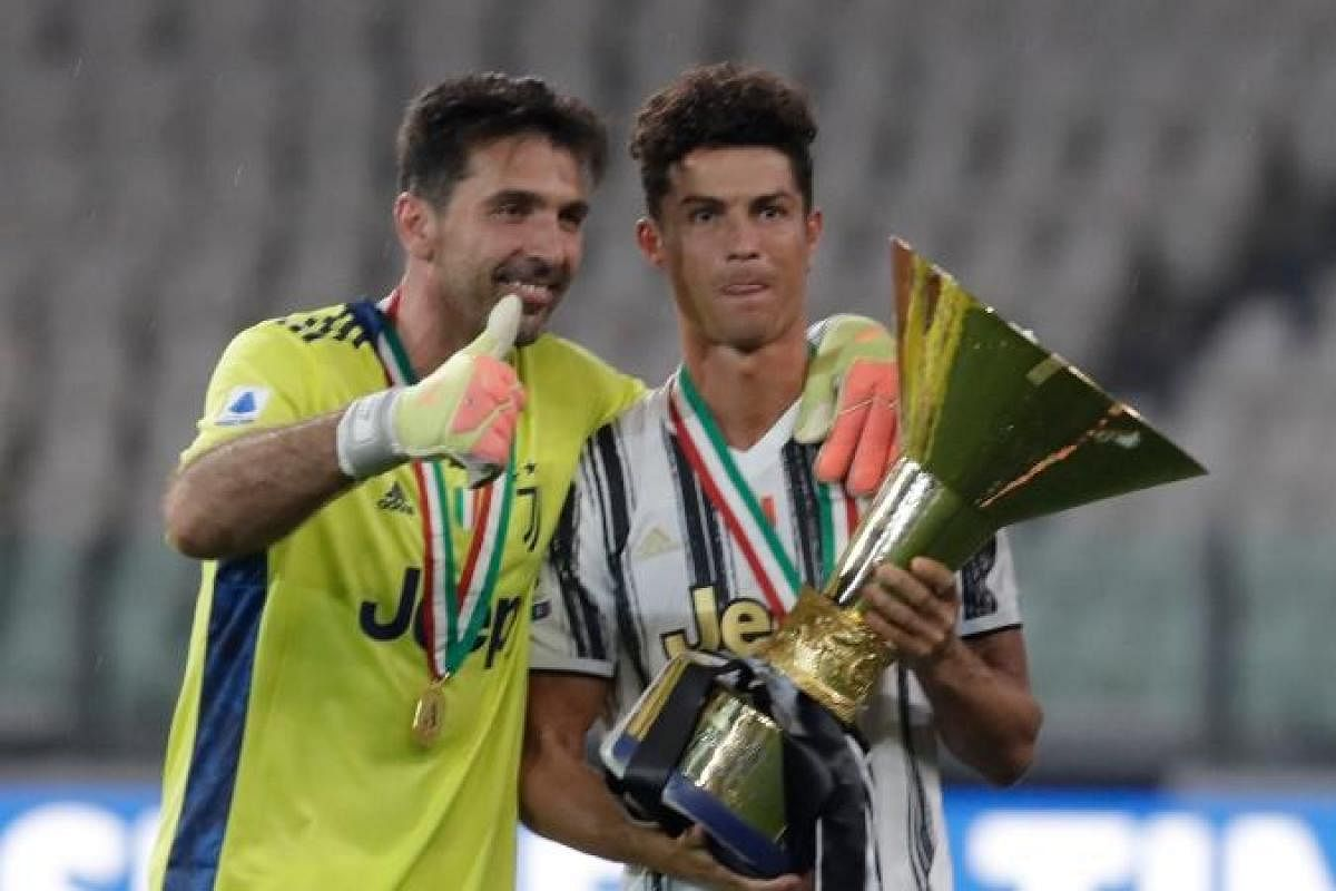 best pictures as cristiano ronaldo lifts second serie a with juventus the new indian express cristiano ronaldo lifts second serie a