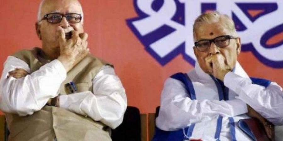 Senior BJP leaders L K Advani and Murli Manohar Joshi