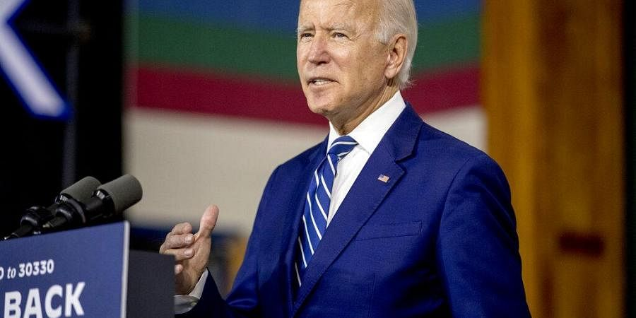 Democratic presidential candidate former Vice President Joe Biden speaks at a campaign event at the Colonial Early Education Program at the Colwyck Training Center, Tuesday, July 21, 2020 (Photo | AP)