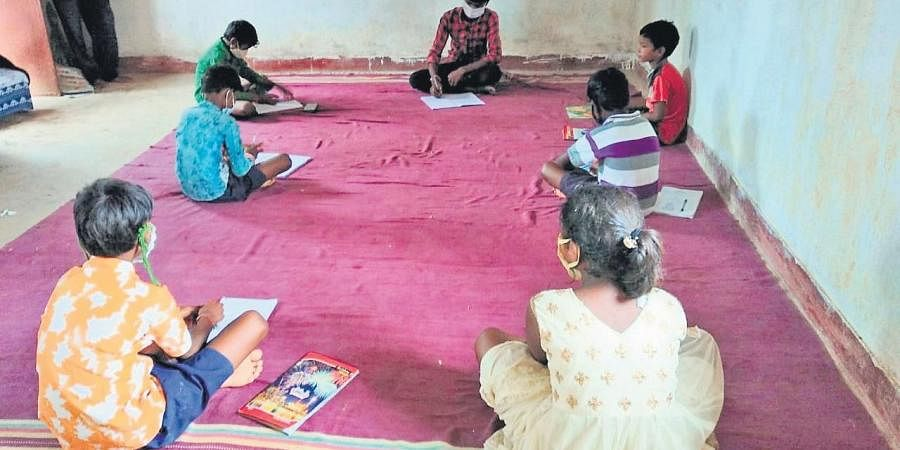 A class being held at a village in Sundargarh district