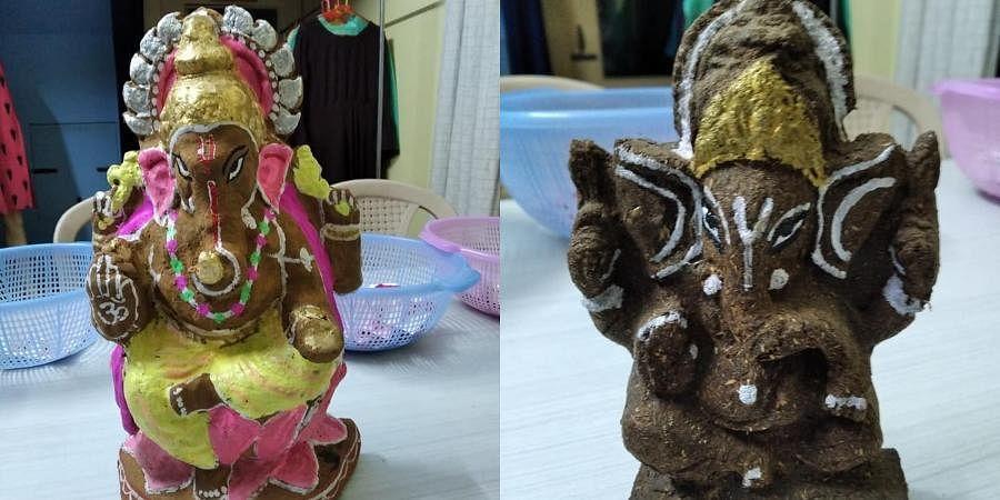 Ahead of Ganesha Chaturthi, an organisation based in Gujarat's Vadodara has made eco-friendly 'Vedic Ganesha idols' for the occasion.