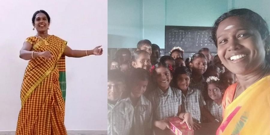 Meena Ramanathan is teaching students Tamil through song and dance