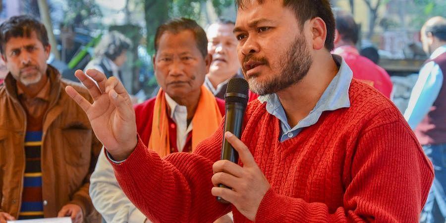Arrested Assam RTI activist Akhil Gogoi