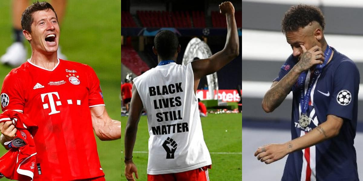 The longest football seasons' final match saw the clash of two side equally matched on every level. With one slip of a moment, Coman snatched the match from PSG and made history. Here are the pictures which capture the moments after the match. (Photos | AFP)