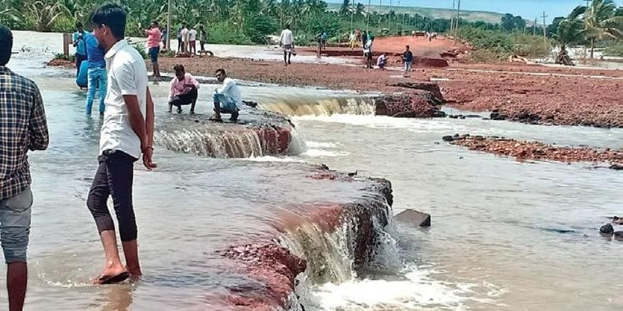 In the past week, rain and a flooding Malaprabha have created havoc, washing away a part of a bridge across NH-52 near Konnur in Gadag.