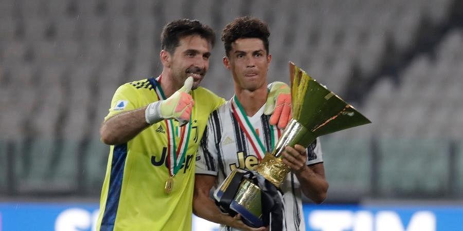 Buffon with Cristiano Ronaldo | AP