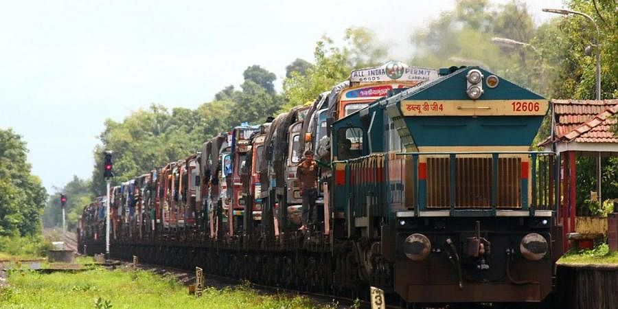 RO-RO service operated by the Konkan Railway