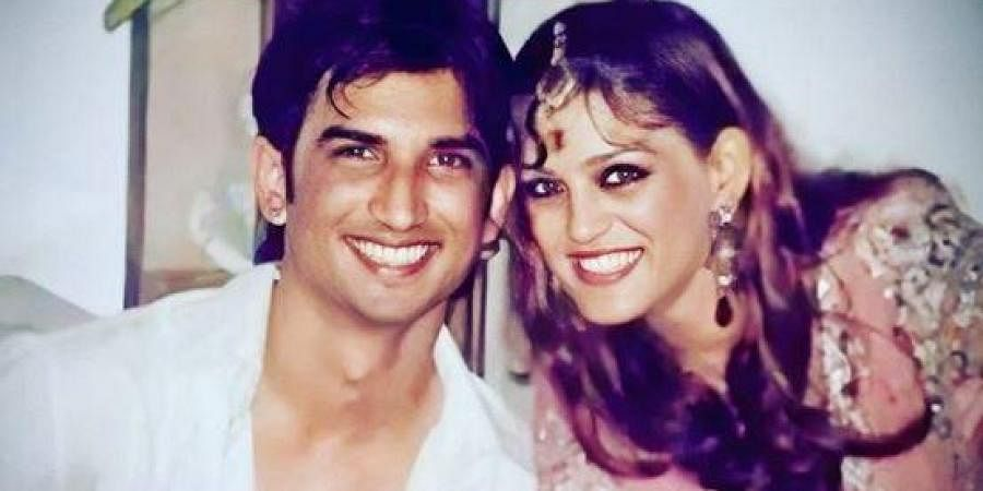 Late actor Sushant Singh Rajput (R) with his sister Shweta Singh Kirti