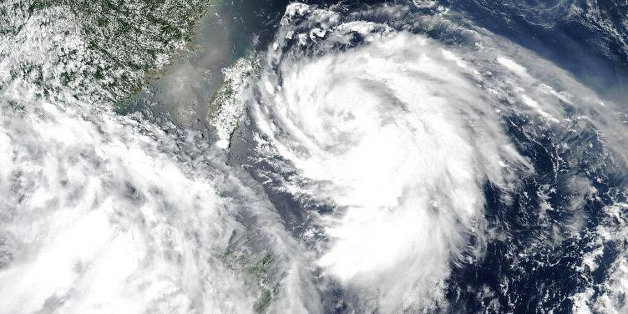 Vulnerable coastal areas of eastern China are being evacuated in anticipation of Typhoon Hagupit making landfall late Monday, Aug. 3, 2020, bringing gales and heavy rainfall. (Photo | AP)