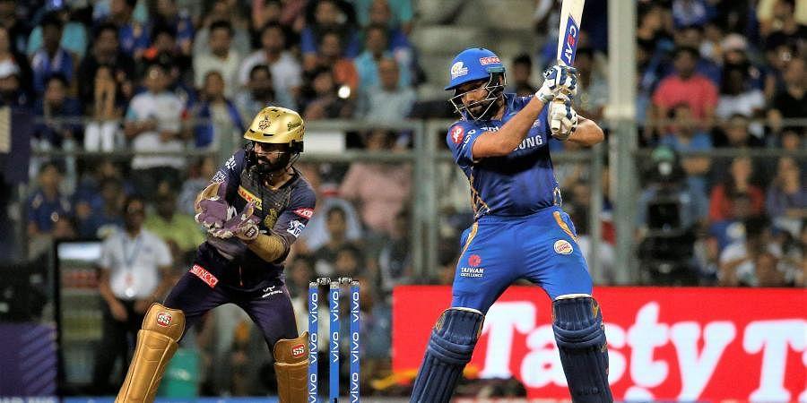Rohit Sharma of Mumbai Indians bats during the VIVO IPL T20 cricket match between Mumbai Indians and Kolkata Knight Riders in Mumbai. (Photo | AP)
