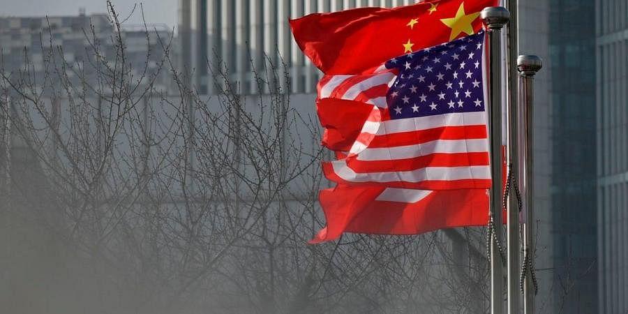 China-US flags, US-China ties
