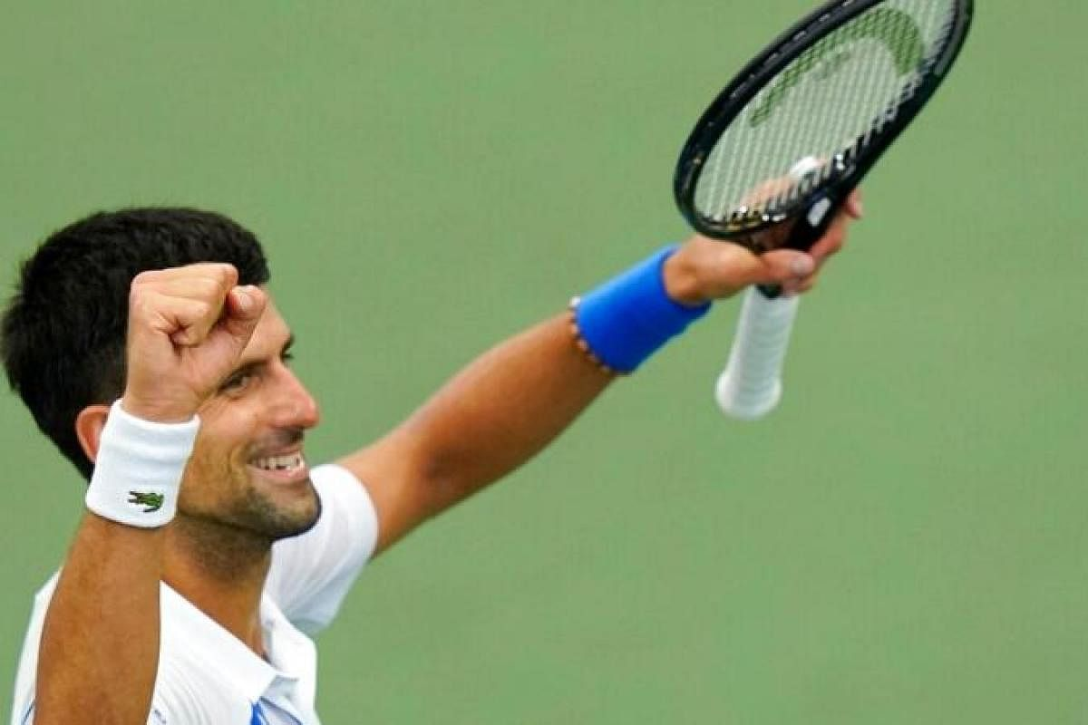 Novak Djokovic In Action On Day One Of Secure Us Open 2020 The New Indian Express