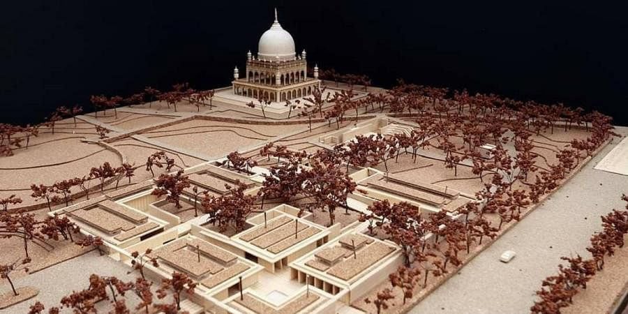 A 3D model of the proposed interpretation centre at the Qutb Shahi Heritage park