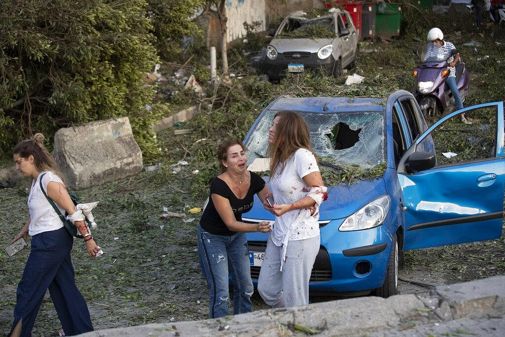 The explosion collapsed balconies, shattered windows and ripped bricks from buildings all across the Lebanese capital of Beirut on Tuesday.
