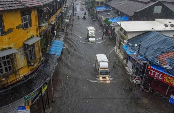 Heavy rains, strong winds batter Mumbai; damage signage atopiconic BSE building