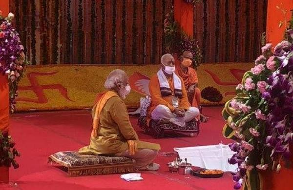 PM Modi performs 'bhoomi pujan' for Ram temple in Ayodhya
