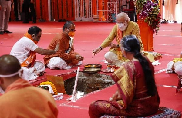 Wait of centuries has ended, says PM Modi after Ram temple 'bhoomi pujan'