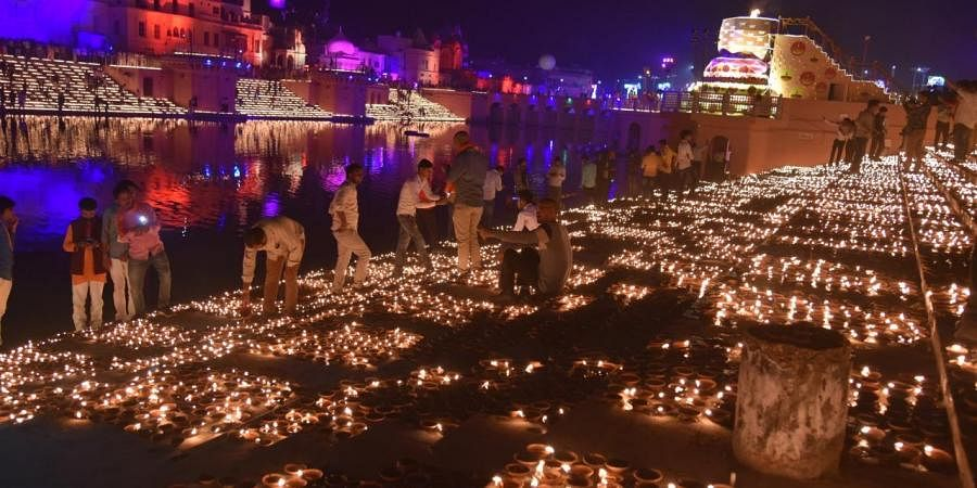 Ayodhya town decked up for the big day