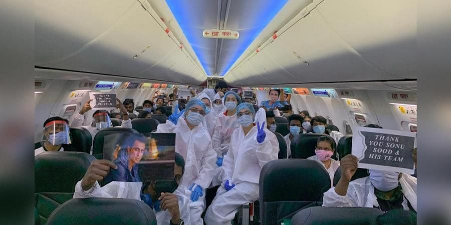 Medical Students predominantly from Tamil Nadu who were stranded in Moscow, Russia reached Chennai safely in a chartered flight arranged by actor Sonu Sood.