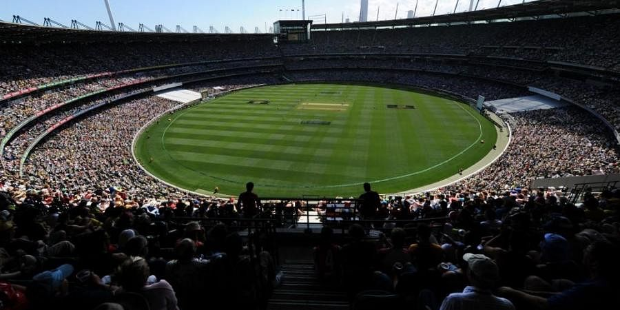 A large crowd attends the MCG to watch the Boxing Day match. (Photo   AFP)