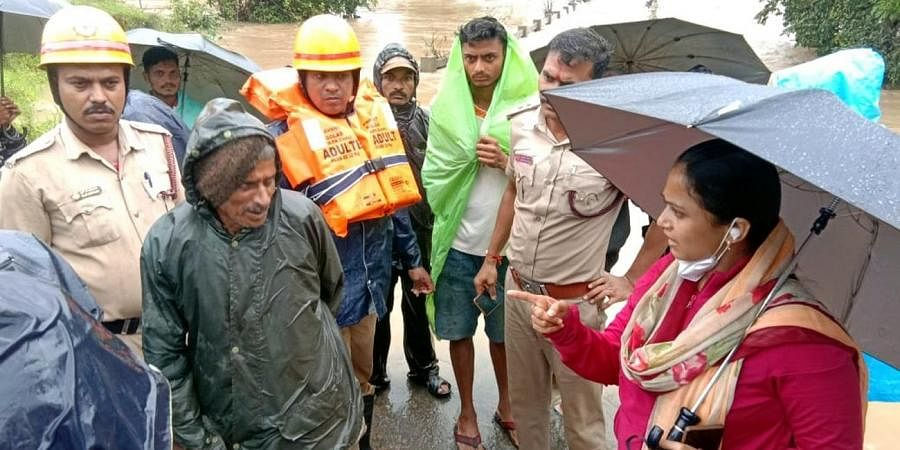 He was pulled into the waterwhile attempting to cross the flooded bridge due to the heavy flow of the river.