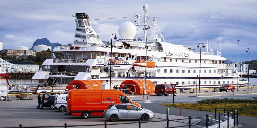 The cruise ship with 123 passengers on board and a crew of 85 has docked in the Norwegian harbor of Bodoe but no one can disembark after a former passenger tested. (Photo | AP)