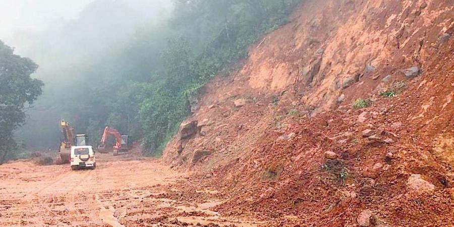 A landslide on Charmadi Ghat