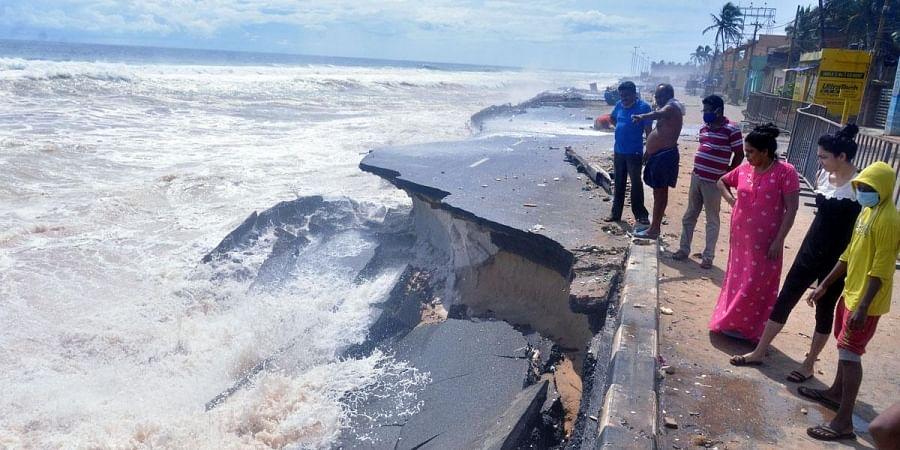 Sea erosion, Thiruvananthapuram
