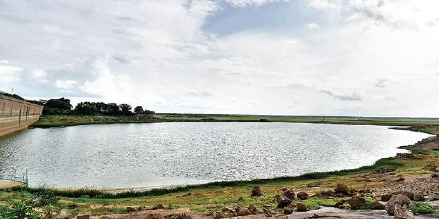 Despite excess rainfall in the city, as well as in catchment areas of the reservoir, water levels at Osmansagar remain low