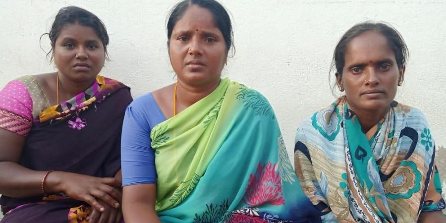 Three women Senthamizh Selvi (38), Muthamaal (34) and Ananthavalli (34) from Adanurai who saved the two youths who fell into water of Kottarai dam in Perambalur district.