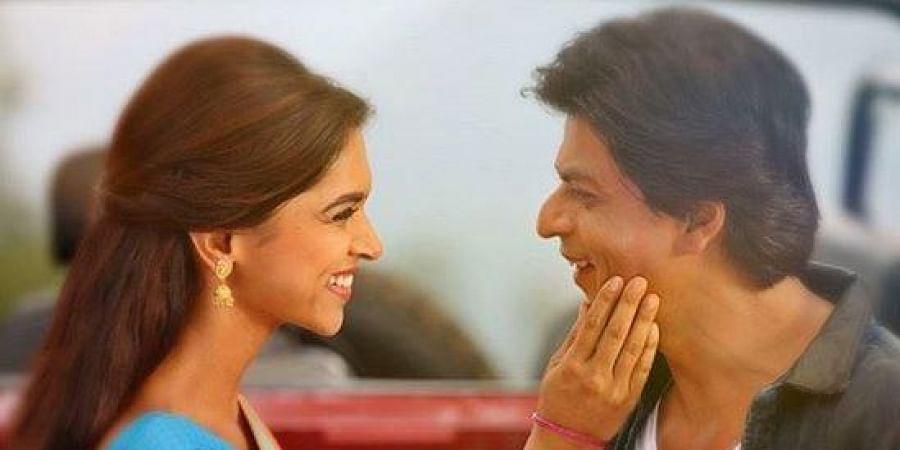 A light moment between Deepika and Shah Rukh.