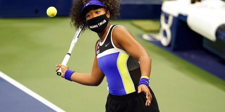 Naomi Osaka, of Japan, wears a mask in honor of Breonna Taylor. (Photo | AP)