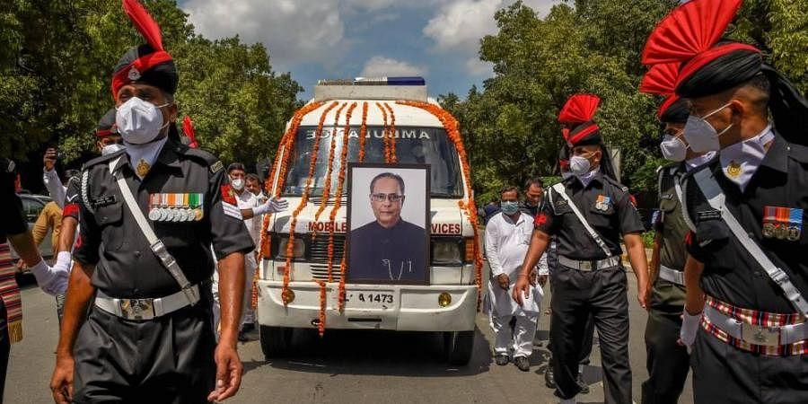 Pranab Mukherjee final journey