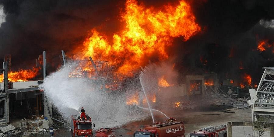 Beirut Port fireB