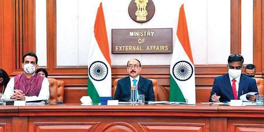 Foreign Secretary Harsh Vardhan Shringla at the virtual meet.