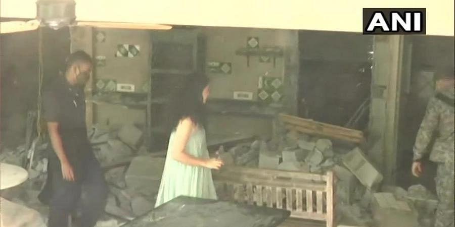 Kangana Ranaut visiting the office demolished by BMC