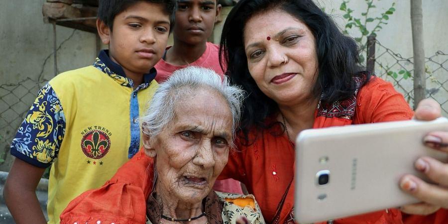 selfie, senior citizens