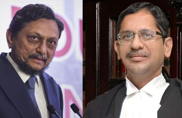 CJI SA Bobde (L) and Supreme Court judge NV Ramana (Photos | PTI, EPS)