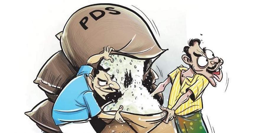 PDS rice, Rice theft