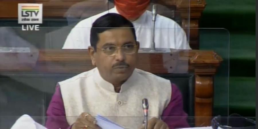 Parliamentary Affairs Minister Pralhad Joshiduring the Monsoon session of Lok Sabha.